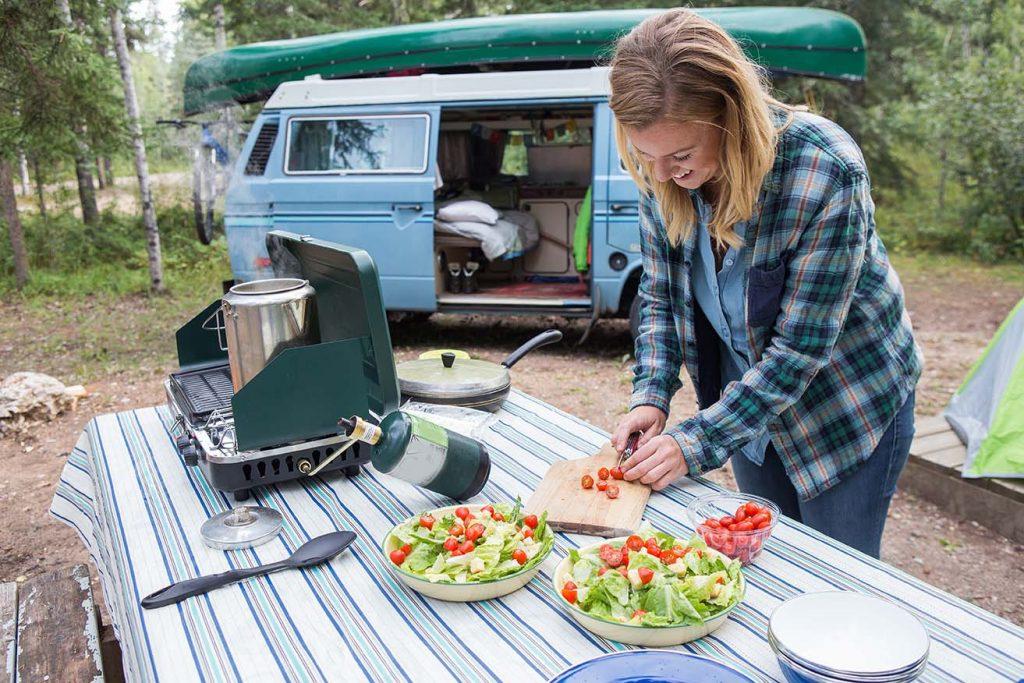 Cuisiner en Campervan Campervan;  Manger;  sur la route